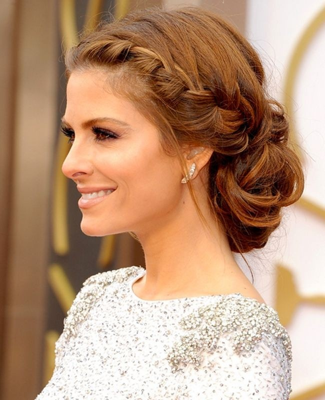 Maria Menounos Braided Updo Hairstyles