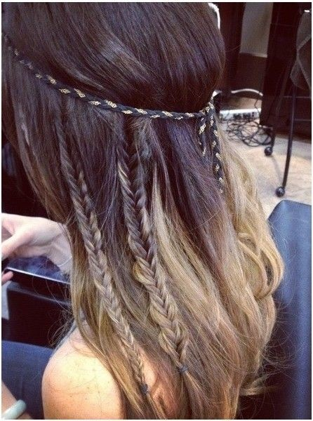 Ombre Hairstyles for Long Hair: Braids Ideas