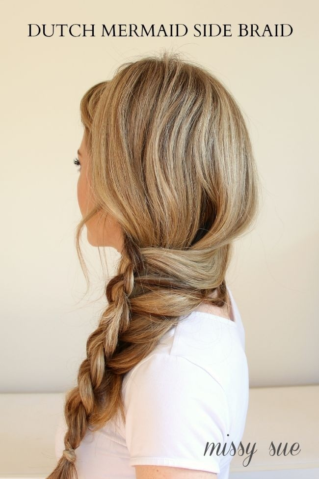 Dutch Mermaid Side Braid for Straight Long Hair: Fancy, Side Braided Hairstyle