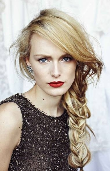 Messy, Side Braid Hairstyles