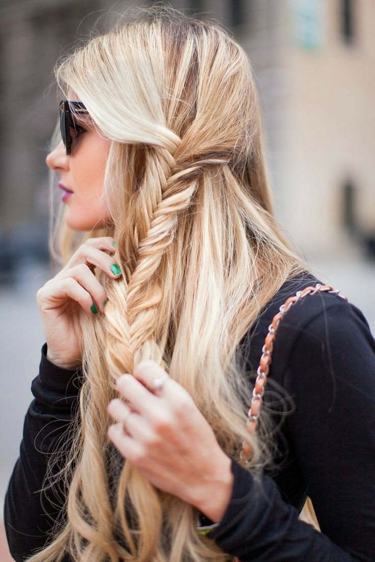 16 side braid hairstyles pretty long hair ideas styles for Fish tail hair