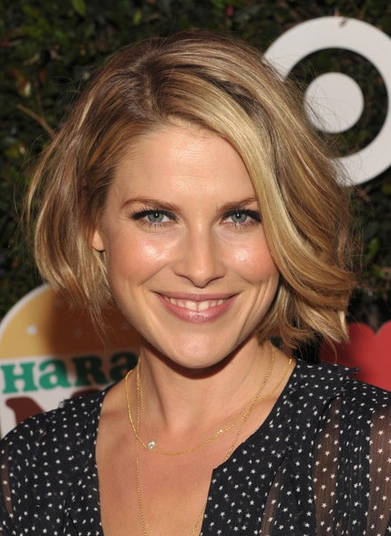 Ali Larter Short Bob Hairstyle for 2014 - Side-part Asymmetric Bob