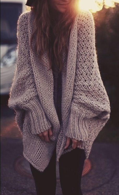 Over-Sized Slouchy Knit Sweater