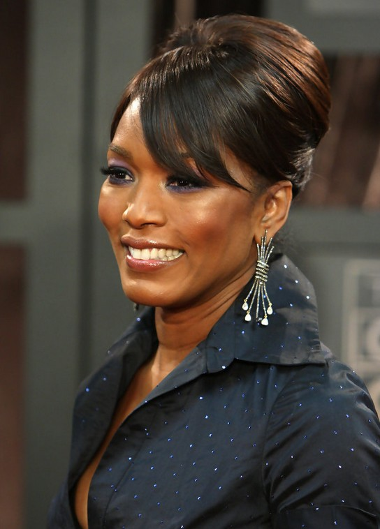Angela Bassett Updo for Women Over 50