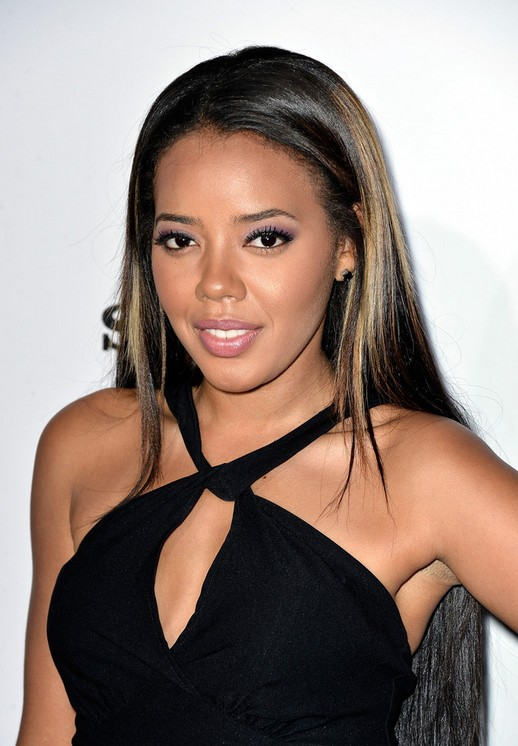 Angela Simmons Long Straight Sleek Hairstyle for Black Women
