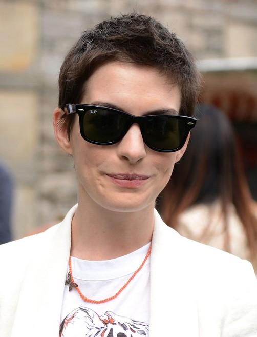 Anne Hathaway Boy Cut for Women - Hairstyle for Summer 2014