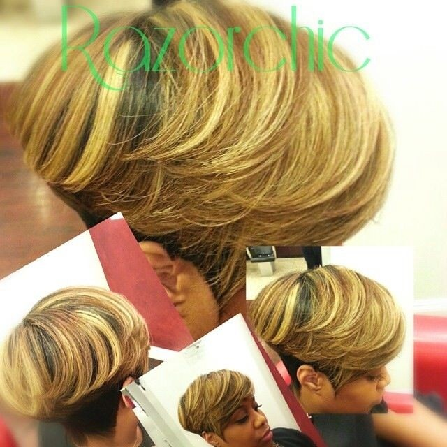 Blonde Short Hairstyle for Thick Hair - 2015 Stylish Short Haircuts for African American Women