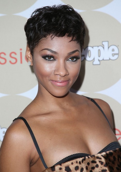 Bria Murphy Short Haircut 2014 - African American Hairstyle for Black Women