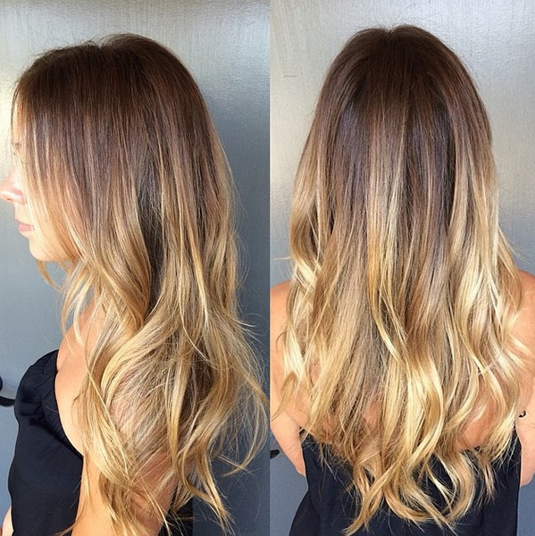 Brunette With Melted Er Highlights