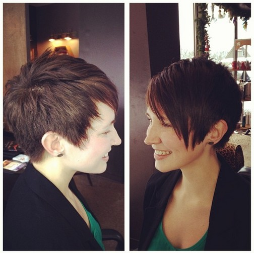 Casual Short Haircut for Thick Hair