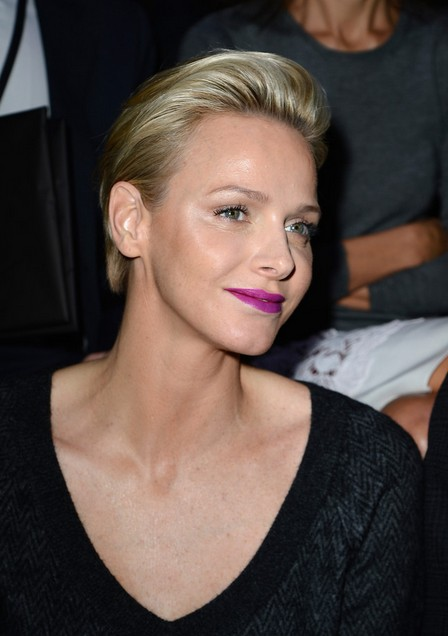 Charlene Wittstock Short Haircut - Elegant Short Straight Hairstyle