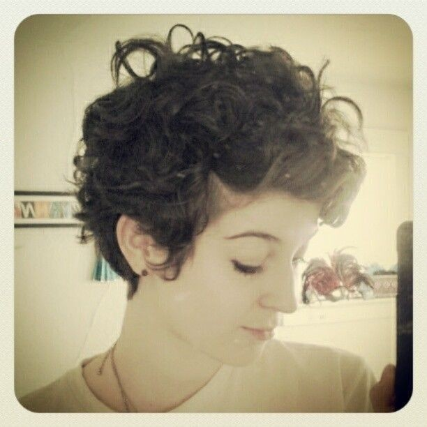 Lively Short Haircuts For Curly Hair Short Wavy Curly - Styling curly pixie
