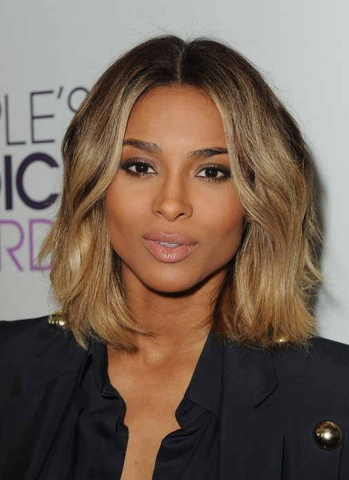 Ciara Layered Medium Wavy Hairstyle for Thick Hair