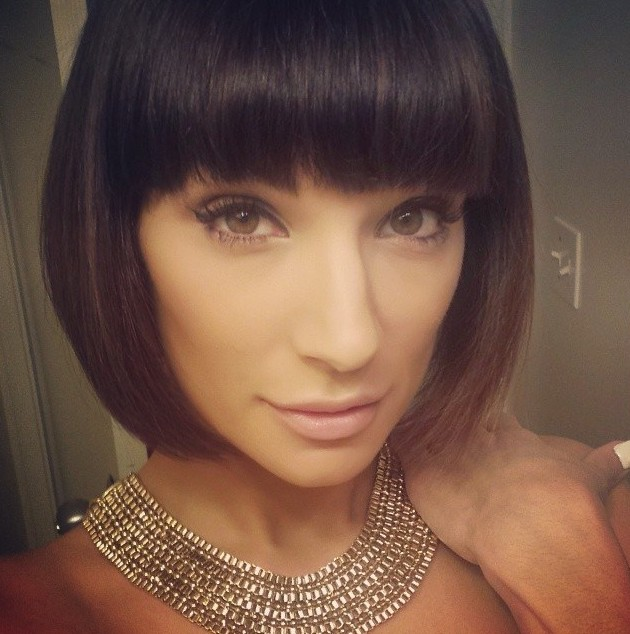 Cute Bob Hairstyle with Blunt Bangs