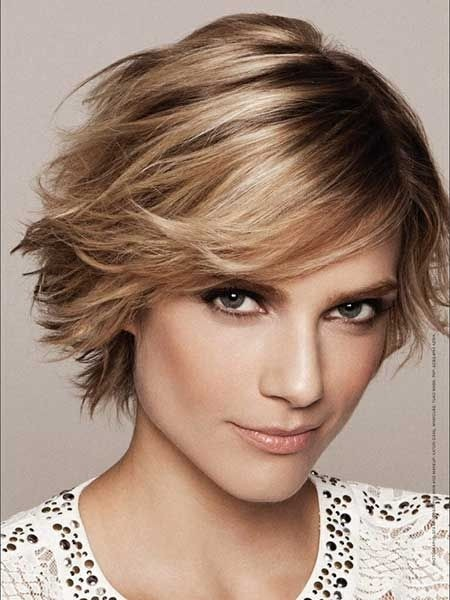 Cute Short Haircut for Heart Face Shape - Superb Short Shag Haircuts