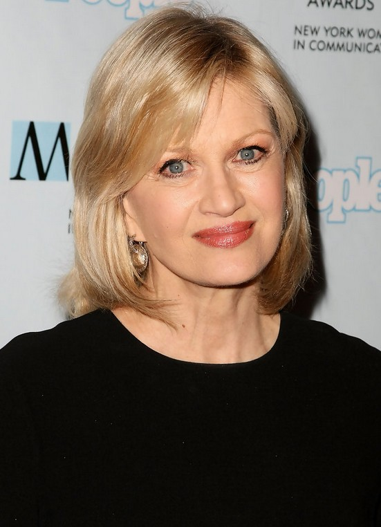 Medium Length Hairstyles For Women Over 50 shoulder lengthjpg Diane Sawyer Medium Layered Hairstyle For Women Over 50
