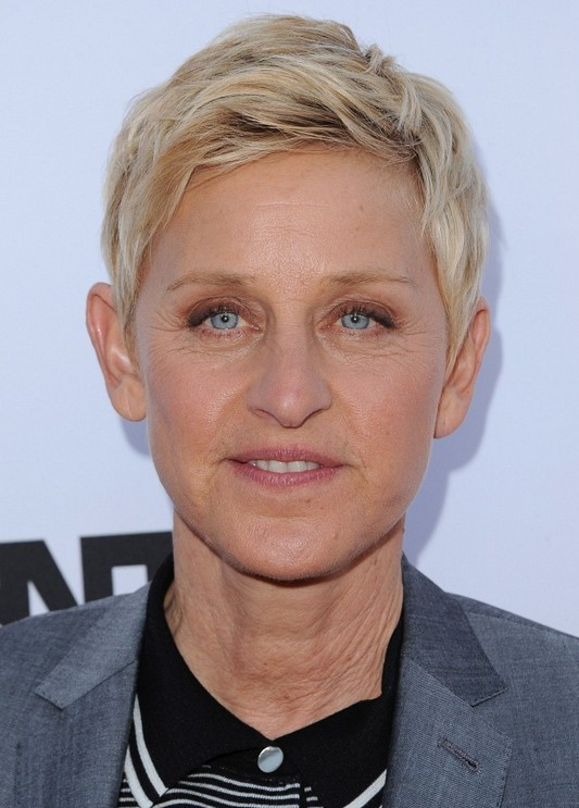 Ellen Degeneres Layered Short Pixie Cut for Women Over 50