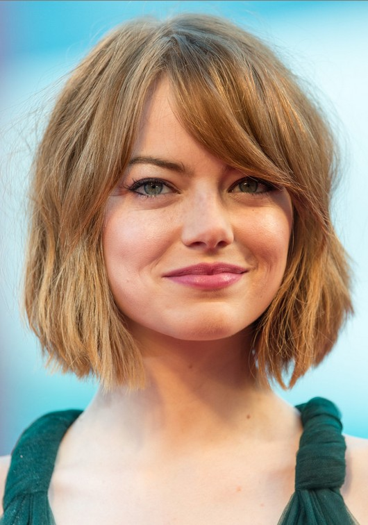 Emma Stone Short Hairstyle: Short Bob Haircuts for Bangs