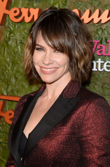 Evangeline Lilly Short Haircut 2014 - Bob Hairstyle with Bangs
