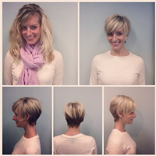 Everyday Hairstyles for Short Fine Hair: Pixie Haircut Before and After