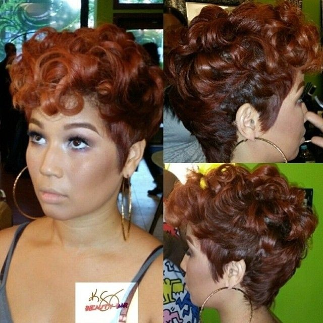 Gorgeous Haircut for Curly Hair - 2015 Chic Short Hairstyles for African American Women