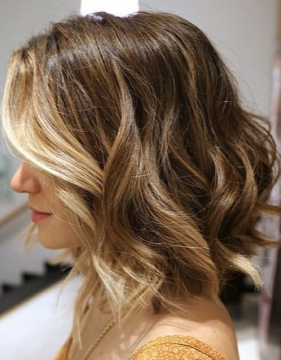 Gorgeous Short Ombre Bob Haircut with Waves