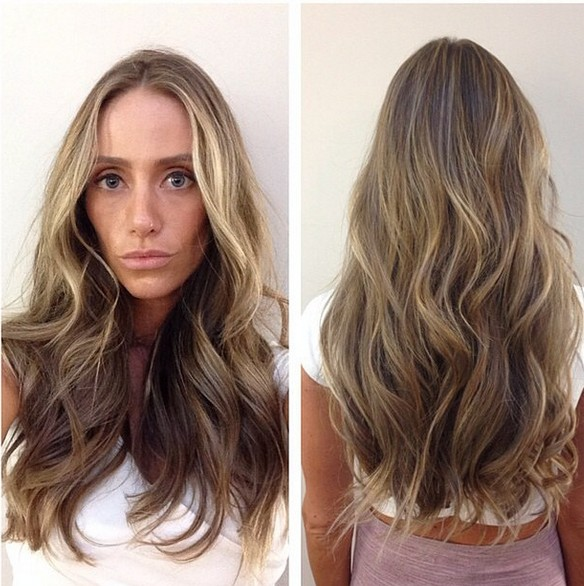 Gorgeous sandy blonde with hints of highlights
