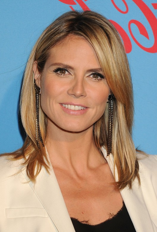 ... Heidi Klum Latest Hairstyle With Long Layers For Winter