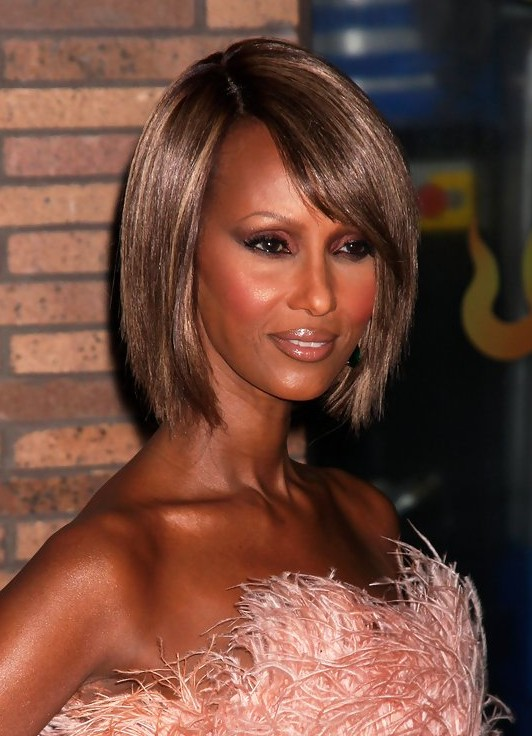 Iman Short Bob Hairstyles For Black Women