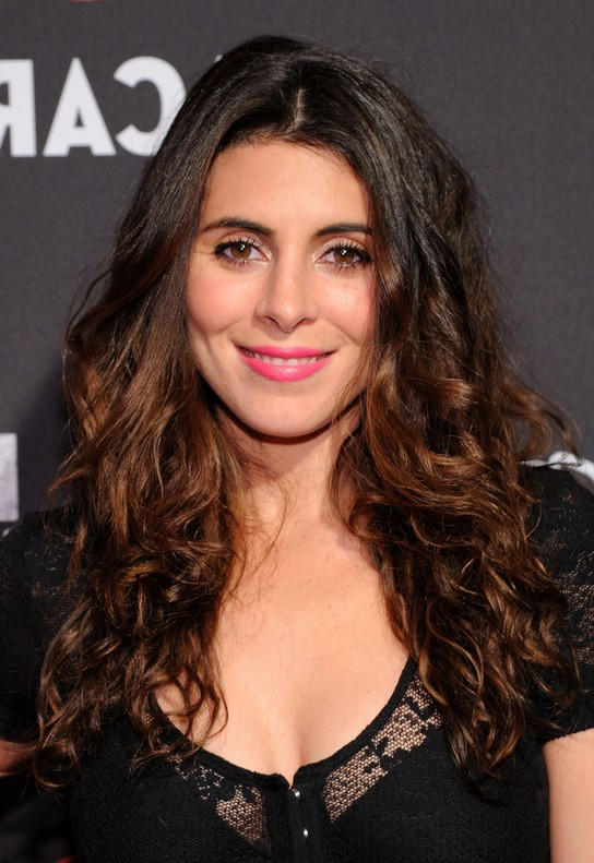Jamie-Lynn Sigler Black to Brown Curly Hairstyle for Long Hair