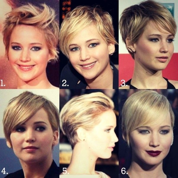 Jennifer Lawrence Short Hair Styles