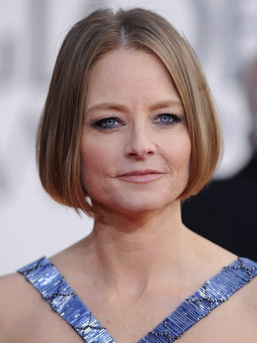 Jodie Foster Simple Short Bob Haircut for Women Over 50