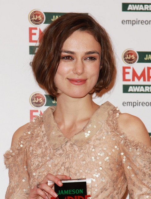 Keira Knightley Short Hairstyle - Simple Short Haircut for Women