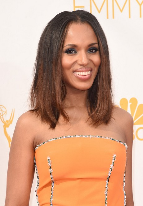 Kerry Washington Lob Long Bob Hairstyle for Black Women