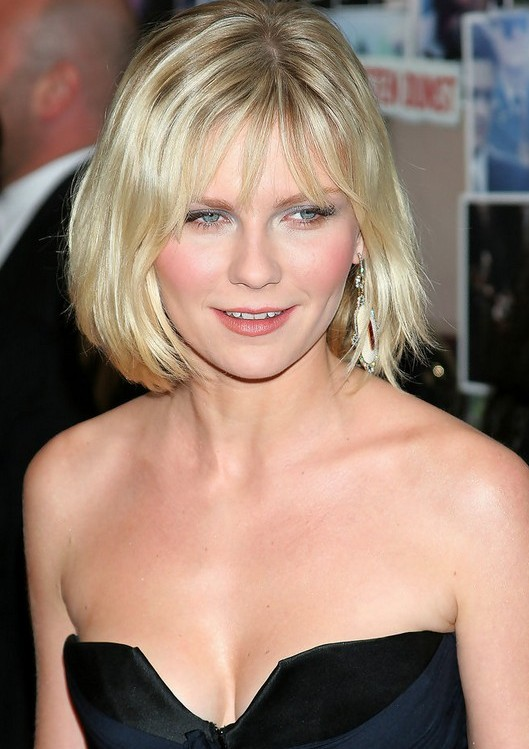 Kirsten Dunst short wavy bob hairstyle