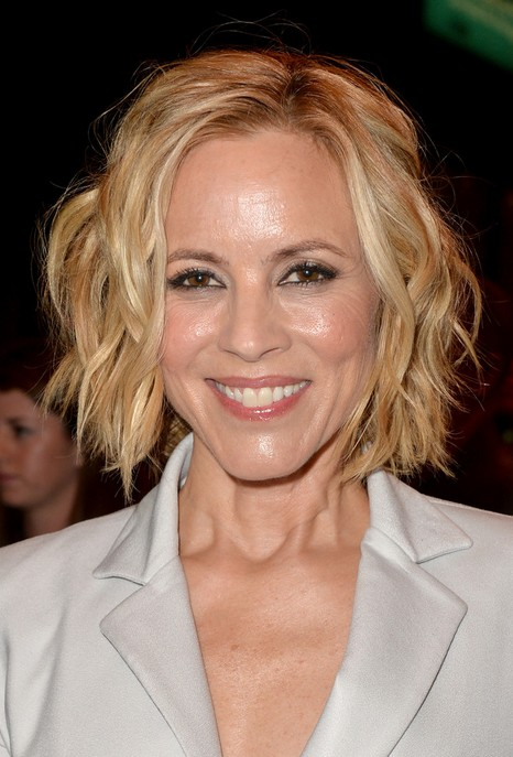 Maria Bello Short Hairstyle - Short Tousled Curly Bob Hairstyle for Women