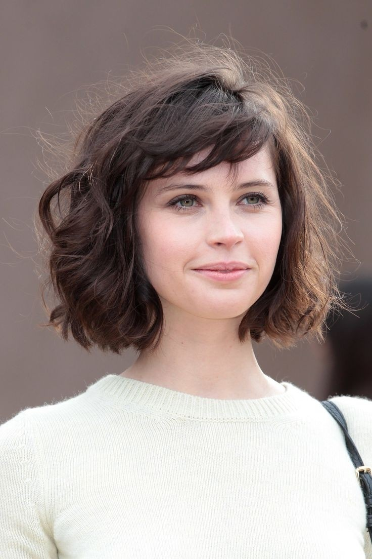 Medium Bob Hairstyle: Short Haircuts for Wavy Hair