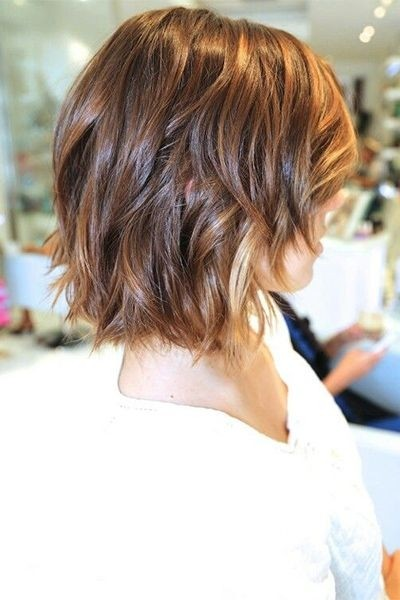Curly Hairstyles For Short To Medium Length Hair : Medium length bob for wavy hair short layered hairstyles