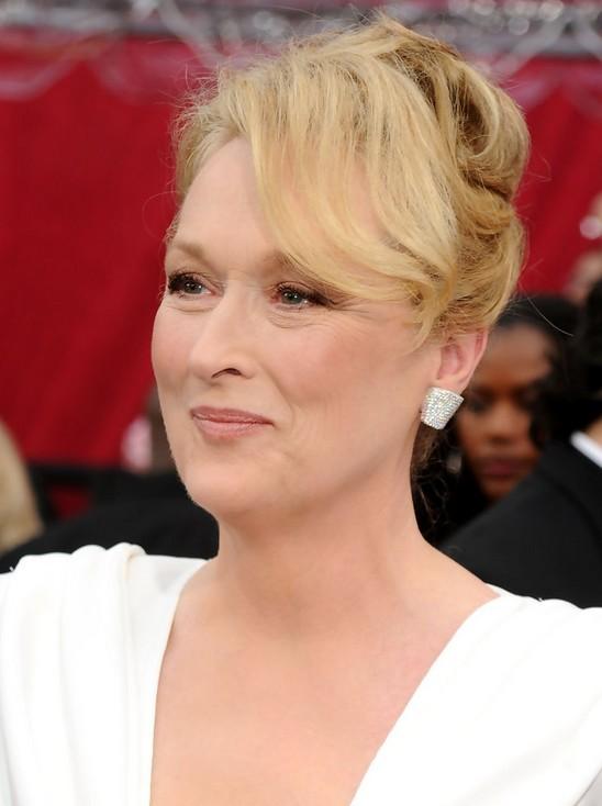 Meryl Streep French Twist Updo for Women Over 50