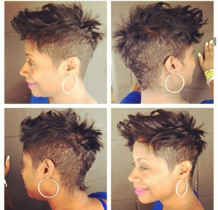 Mohawk Hairstyle for Short Hair - Stylish Shaved Haircuts for African American Women