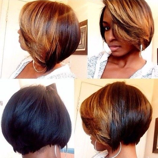 Ombre Bob Hairstyle for African American Women