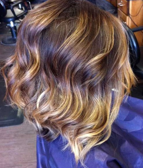 Short Dark Ombre Hair Color