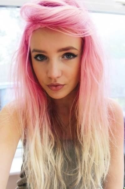 Pink to Blonde Ombre Hair
