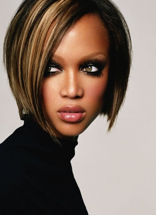 Pretty Bob Haircut for Heart Face Shape - 2015 Short Hairstyles for Black Women