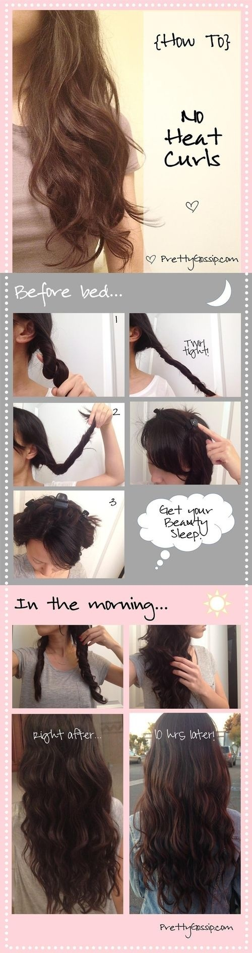 Diy No Heat Curls 15 Tutorials For Curl Hair Without Heat Styles Weekly