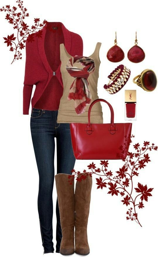 Red Clothing Style for 2016 - 2017