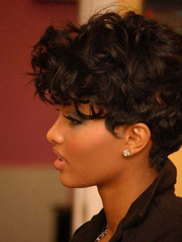 Excellent 12 Pretty Short Curly Hairstyles For Black Women Styles Weekly Short Hairstyles Gunalazisus