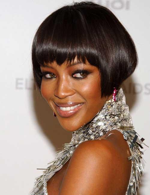 Short Straight Bob Haircut for Black Women