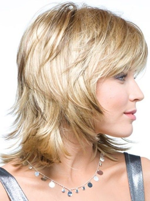 Side View Of Layered Shag Hairstyle For Thick Hair Styles Weekly