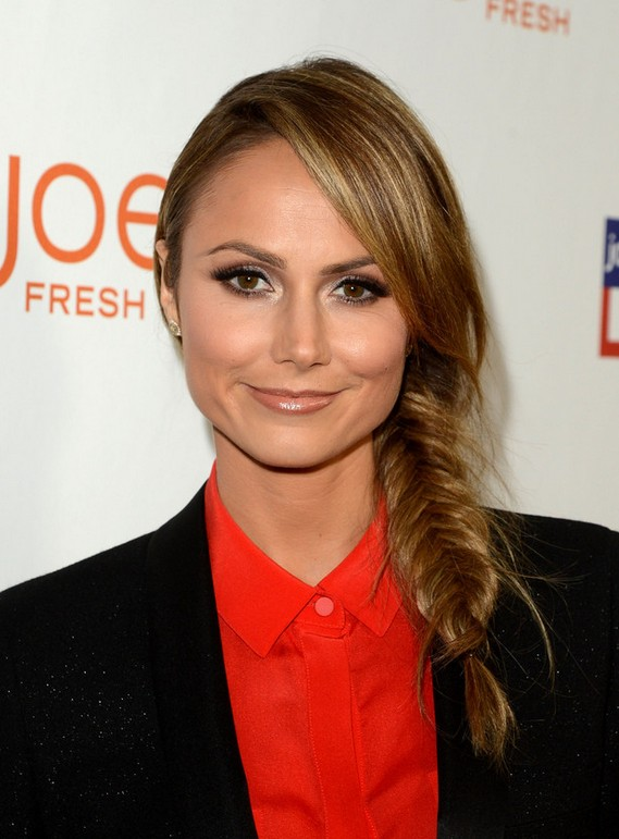 Stacy Keibler Long Side Fishtaol Braid for Winter
